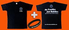 free dive t-shirt and wristband