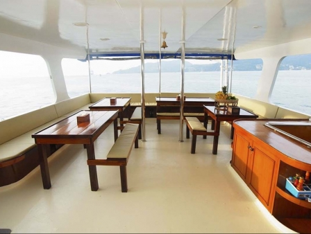 interior of liveaboard boat trips thailand myanmar burma
