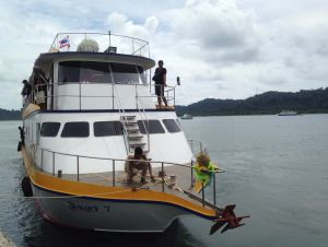 Front of Similan Quest liveaboard